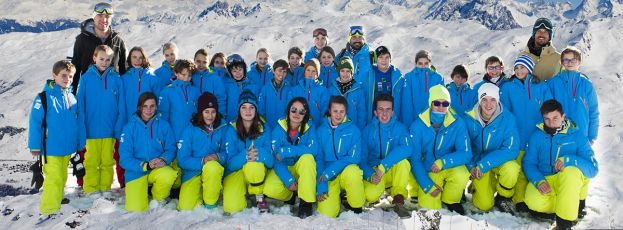 La section snowboard du Club des Sports Les Menuires